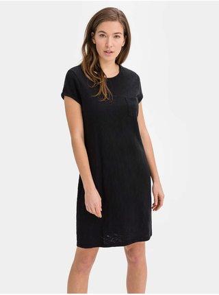 Černé dámské šaty v-ss pkt tee dress