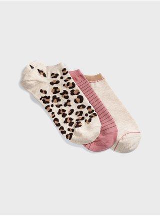 Ponožky ankle socks, 3 párov Farebná