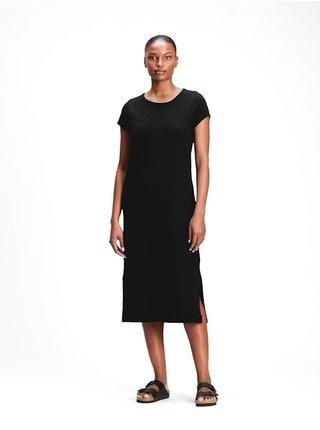 Šaty midi t-shirt dress Čierna