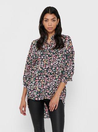 Ružovo-modrá kvetovaná košeľa ONLY Tamara