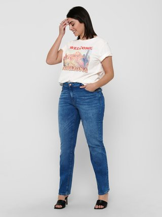 Bílé tričko s potiskem ONLY CARMAKOMA Bria