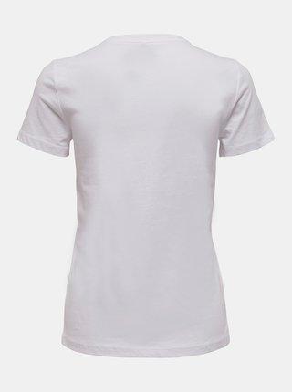 Biele tričko s potlačou ONLY Penelope