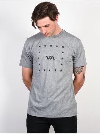 RVCA VA CORNERS ATHLETIC pánské triko s krátkým rukávem - šedá