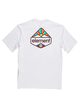 Element CORETTA OPTIC WHITE pánské triko s krátkým rukávem - bílá