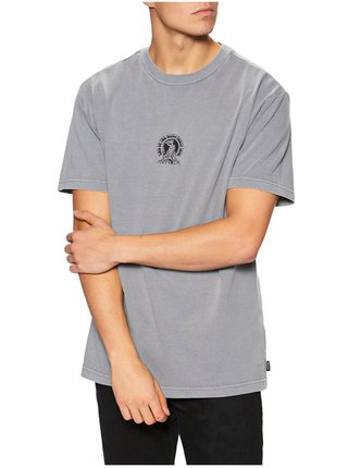 RVCA WORLD PARTY STORM pánské triko s krátkým rukávem - šedá