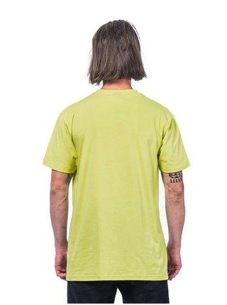 Horsefeathers MINI LOGO lemon grass pánské triko s krátkým rukávem - žlutá