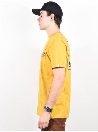 Quiksilver BEACH TONES HONEY pánské triko s krátkým rukávem - žlutá