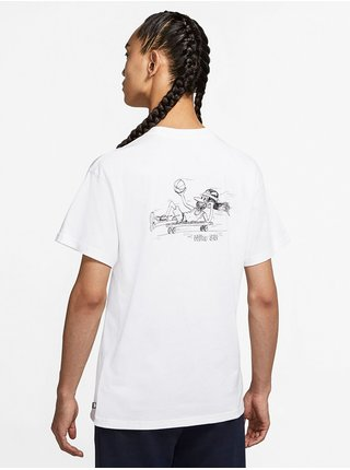 Nike SB DUDER white/black pánské triko s krátkým rukávem - bílá