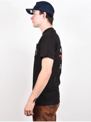 Spitfire BIGHEAD CLASSIC BLK/RED pánské triko s krátkým rukávem - černá