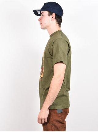 Spitfire 451 MILITARY GREEN pánské triko s krátkým rukávem - zelená