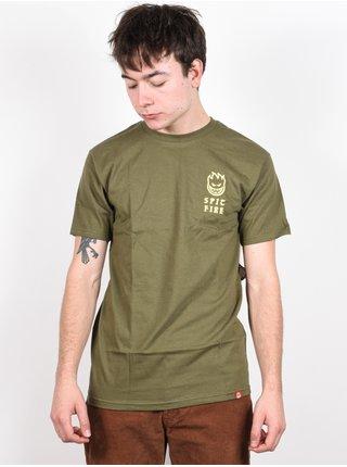 Spitfire STEADY ROCKIN M.GRN/YLW pánské triko s krátkým rukávem - zelená