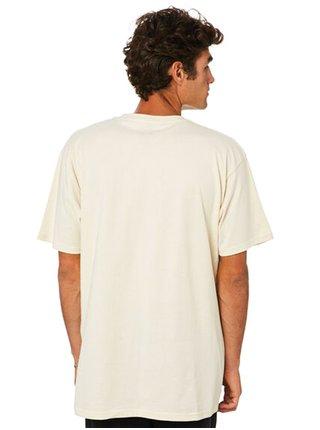 Vans CLASSIC SEED PEARL/BLACK pánské triko s krátkým rukávem - béžová