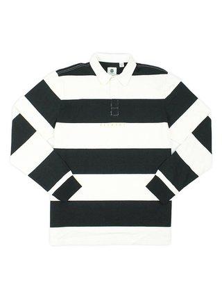 Element LIONEL POLO FLINT BLACK pánské triko s dlouhým rukávem - černá