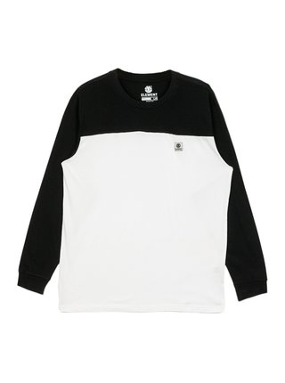 Element BASIC BASEBALL FLINT BLACK pánské triko s dlouhým rukávem - černá