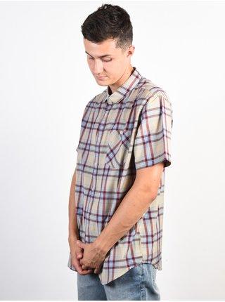 Billabong LENNOX KHAKI košile pro muže krátký rukáv - modrá