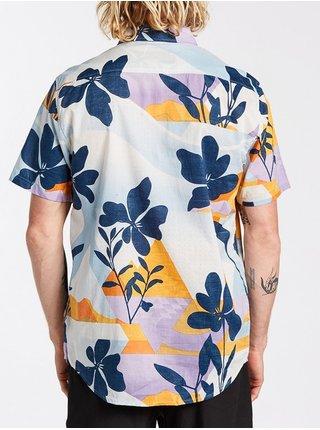 Billabong SUNDAYS FLORAL SKY BLUE košile pro muže krátký rukáv - modrá