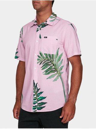 RVCA ROZICH PINK košile pro muže krátký rukáv - zelená