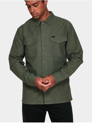 RVCA FUBAR SHIRT SEQUOIA GREEN pánské košile s dlouhým rukávem - zelená