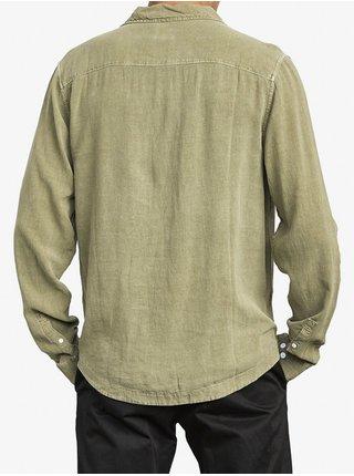 RVCA BEAT ALOE pánské košile s dlouhým rukávem - zelená