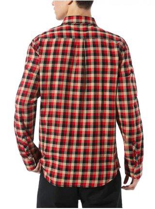 Vans ALAMEDA II CHILI PEPPER/KHAKI pánské košile s dlouhým rukávem - černá