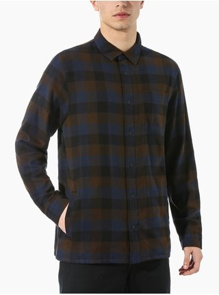 Vans OLSON BLACK/DEMITASSE pánské košile s dlouhým rukávem - modrá