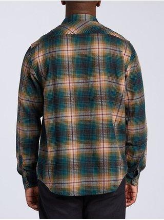 Billabong COASTLINE ASPHALT pánské košile s dlouhým rukávem - zelená