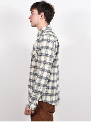 RVCA THATLL WORK ANTIQUE WHITE pánské košile s dlouhým rukávem - šedá