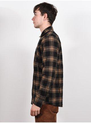 Volcom Tone Stone black pánské košile s dlouhým rukávem - černá