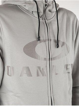 Oakley BARK FOG GREY pánská mikiny na zip - šedá