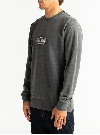 Billabong SUPPLY WAVE black mikiny přes hlavu pánská - šedá