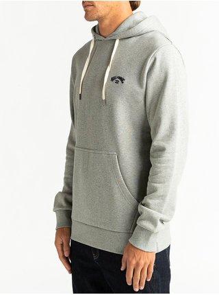 Billabong ORIGINAL ARCH grey heather mikiny přes hlavu pánská - šedá
