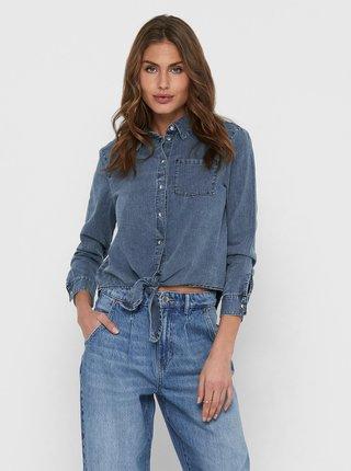 Modrá džínová košile se zavazováním ONLY Lecey