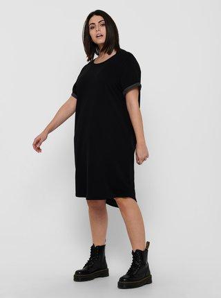 Čierne mikinové šaty ONLY CARMAKOMA Kaylee
