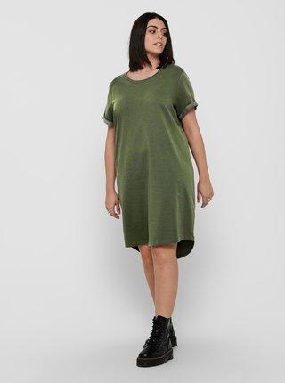 Zelené mikinové šaty ONLY CARMAKOMA Kaylee