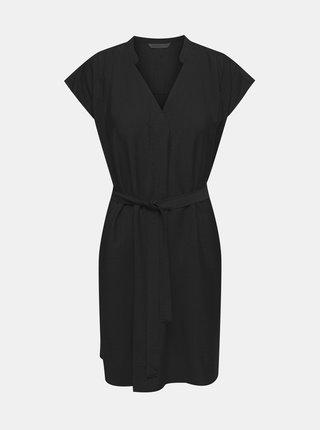 Černé šaty se zavazováním ONLY Josey