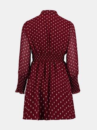 Vínové puntíkované košilové šaty Zabaione