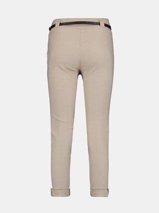 Béžové skrátené nohavice s opaskom Zabaione
