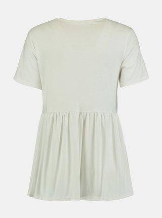 Biele voľné tričko Hailys