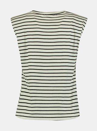 Černo-bílé pruhované volné tričko Hailys