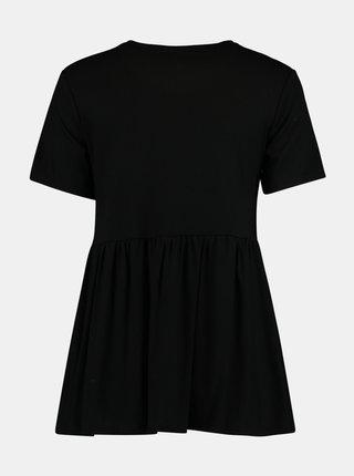 Černé volné tričko Hailys