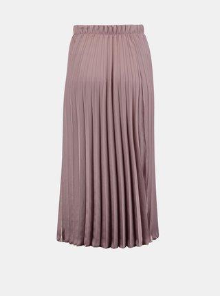 Ružová plisovaná midi sukňa Hailys