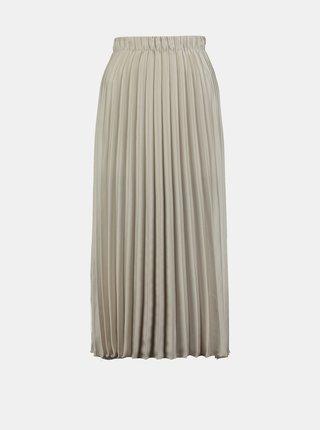 Krémová plisovaná midi sukňa Hailys