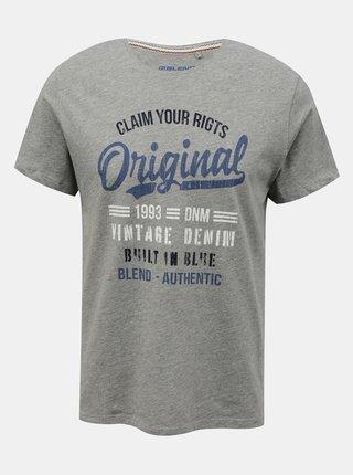 Šedé tričko s potlačou Blend