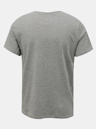 Šedé tričko s potiskem Blend