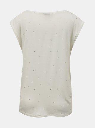 Bílé vzorované tričko Pieces Milly