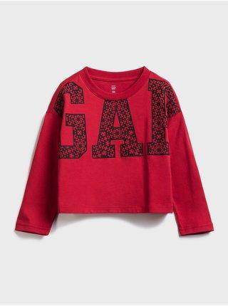 Detské tričko GAP Logo jac ls cny tee Červená