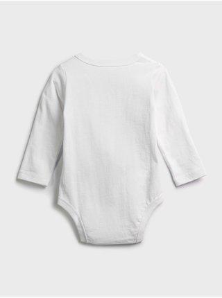 Bílé klučičí baby body GAP Logo jac cny ls bs
