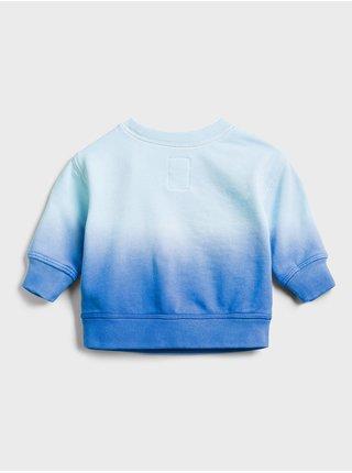 Baby mikina GAP Logo dip-dye crewneck sweatshirt Modrá