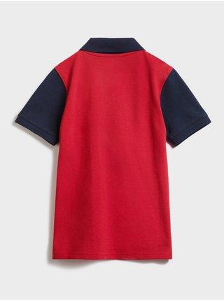 Červené klučičí dětské polo tričko GAP Logo intl pq polo
