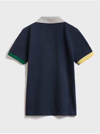 Modré klučičí dětské polo tričko GAP Logo intl pq